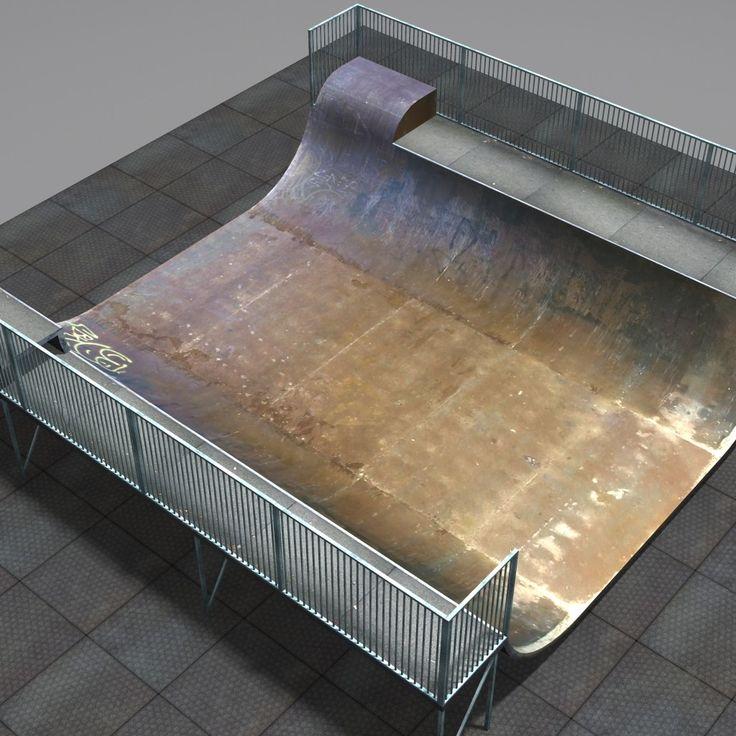 3D Skateboard Ramp Coz111102 - 3D Model