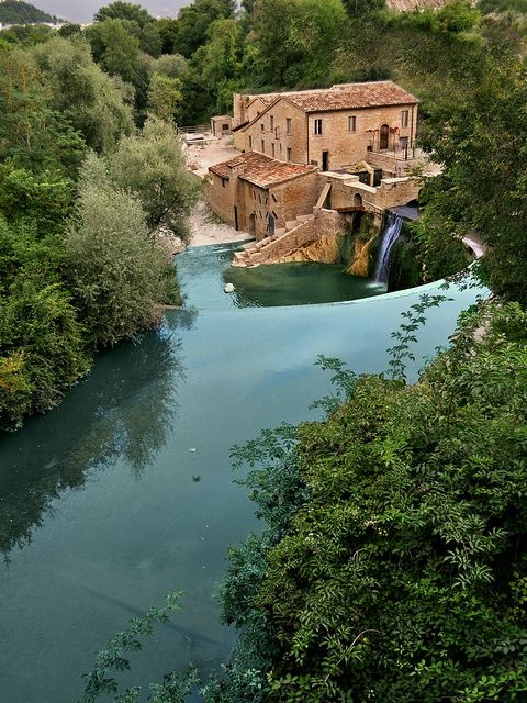 Sassoferrato (Marche - Ancona - Italy) - Antico molino ad acqua sul fiume Sentino by pietrocerioni, via Flickr