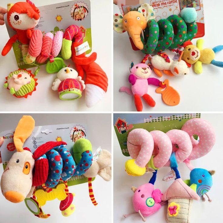 Juguete infantil Cochecito de Bebé Cuna Gira Alrededor de la Cama Espiral Jugando Coche de juguete Torno Colgar Sonajeros Juguetes Móviles Bebe 0-12 meses
