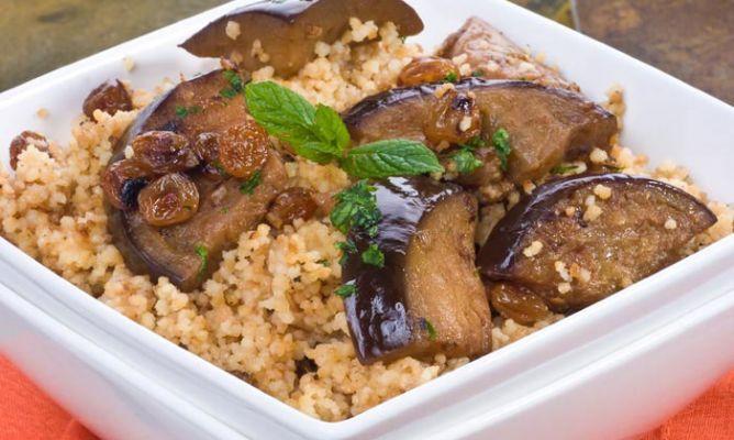 Receta de Berenjenas marroquíes con cuscús