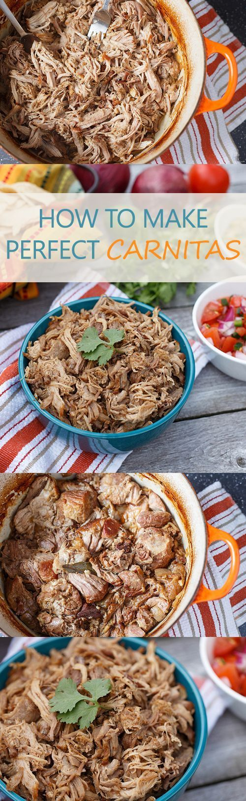 HOW TO MAKE PERFECT CARNITAS - A easy way to make your cinco de mayo awesome. We love Mexican food recipes !!!!!
