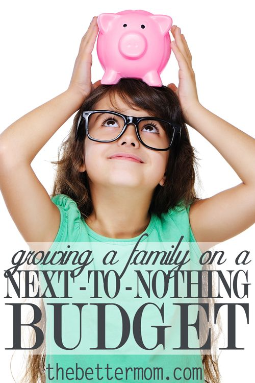 Raising a family can be a very expensive task. But you can do it on a tight budget, and you can do it well. Don't let your budget steal your joy. Read this encouragement as you grow your family on a next-to-nothing budget.