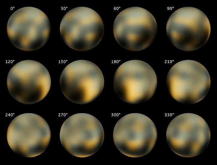 ... bekommt er nicht viel Licht ab. Die Aufnahmen, die Weltraumteleskop Hubble 2002 und 2003 von dem Zwergplaneten machen konnte, zeigen ...