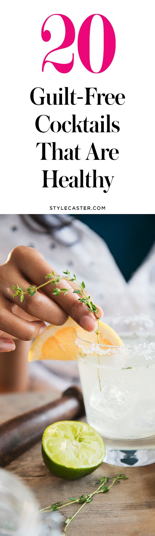 20 delicious + healthy alcoholic drink recipes | skinny cocktails | @stylecaster