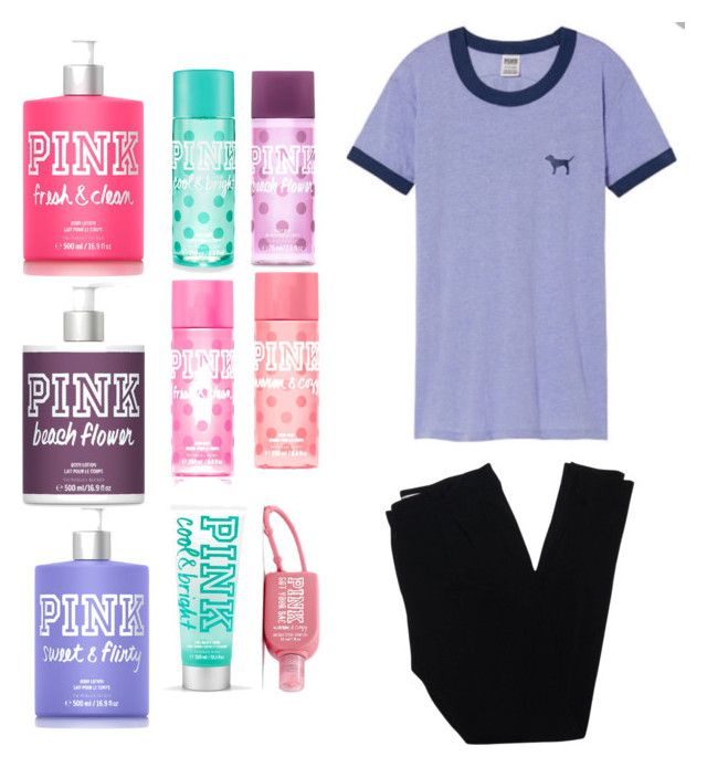 """VS pink 💕💕💕"" by shanti-drue ❤ liked on Polyvore featuring Victoria's Secret PINK and Christian Dior"