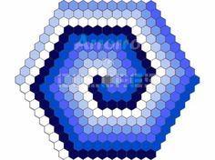 patrón de crochet: alfombra hexagonal en espiral  fototutorial,patrón textual crochet (ganchillo)
