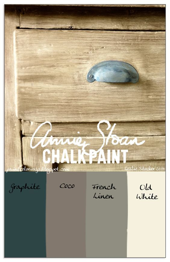 COLORWAYS Creating a light wood, Restoration Hardware look with Annie Sloan Chalk Paint: