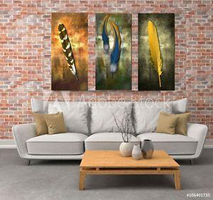 Rustic looking feather print big wall art. #nuurdesignsart #art #work #canvas #print #home #decor