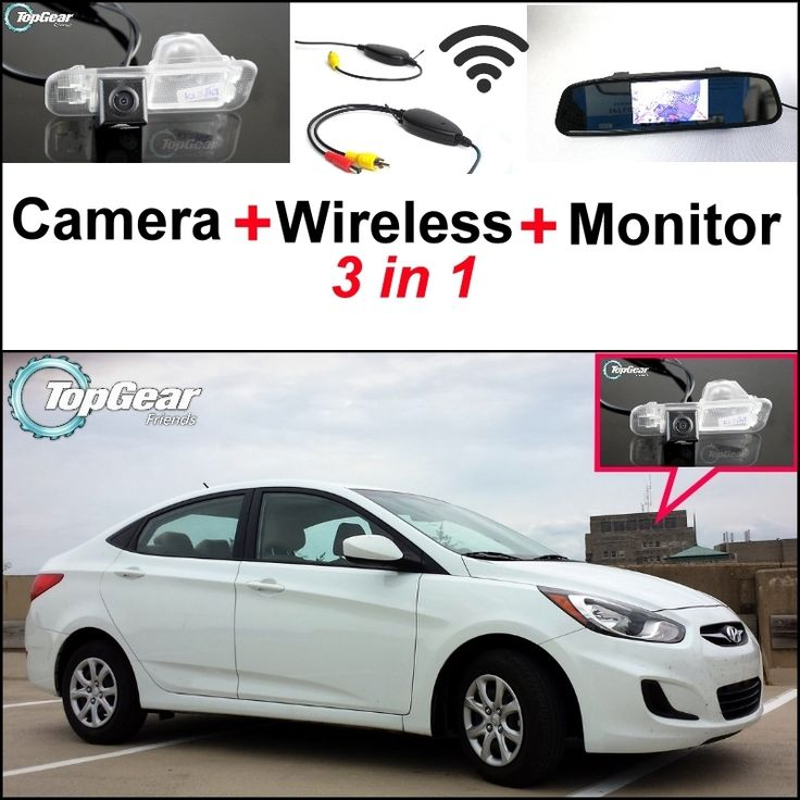 66.27$  Buy now - http://alib3h.worldwells.pw/go.php?t=32466865445 - 3 in1 Special Camera + Wireless Receiver + Mirror Monitor DIY Back Up Parking System For Hyundai Accent RB Sedan