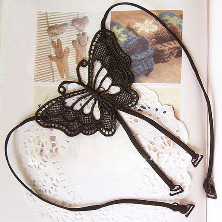 New Women Girl Fashion Sexy Lace X-Shape Seam Underwear Flower Cross Bra extender Holders Back Butterfly Bra Shoulder Straps