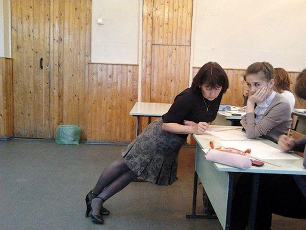 наших прикольные картинки про учительниц них уборе дам