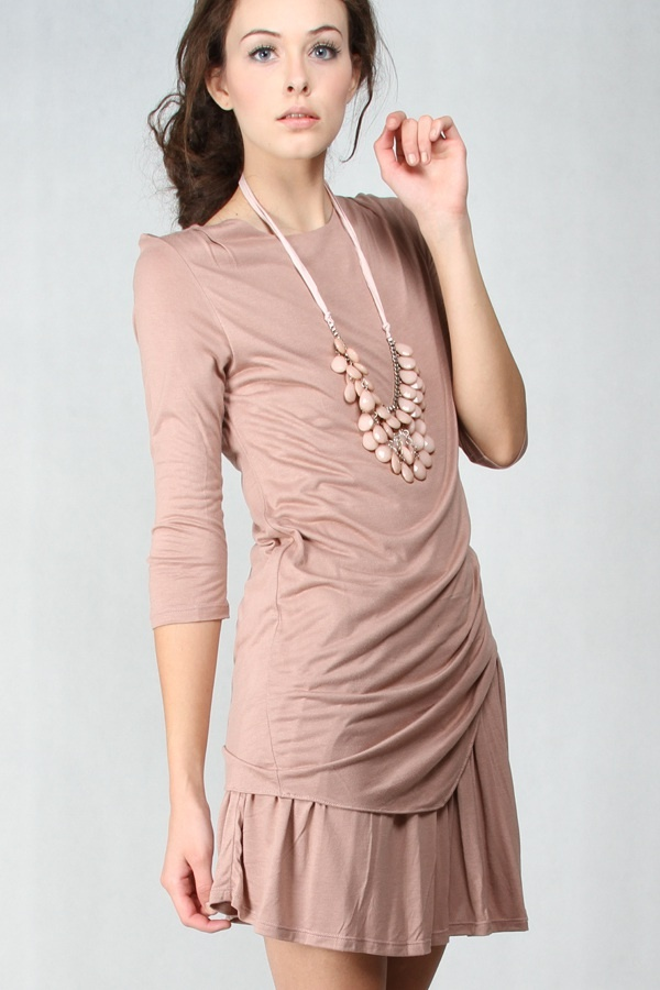 Libby Dress Cream www.pinkemma.com