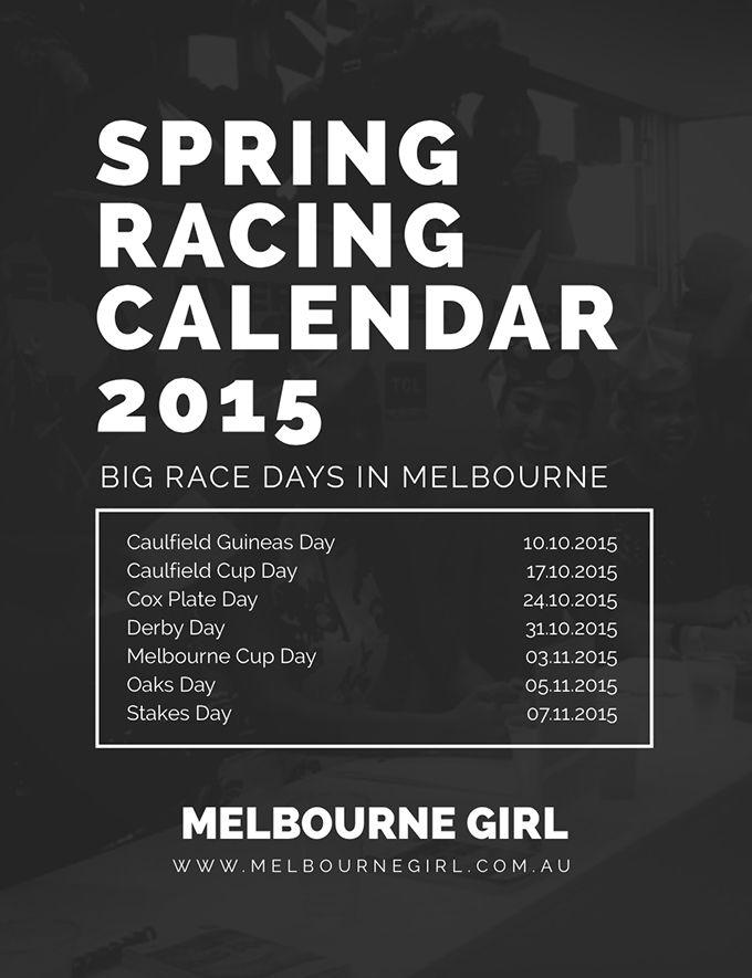 Spring Racing Calendar 2015