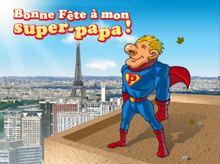 Une carte Super-Papa pour un Super Papa ? C'est par ici ! http://www.starbox.com/carte-virtuelle/carte-fete-des-peres/carte-fete-des-peres-super-papa
