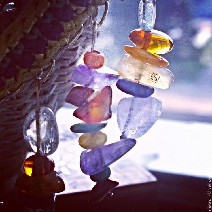 """Купить """"Дикая орхидея"""" ожерелье - olgajw, ojeworld, ожерелье, натуральные камни, натуральный шелк"""