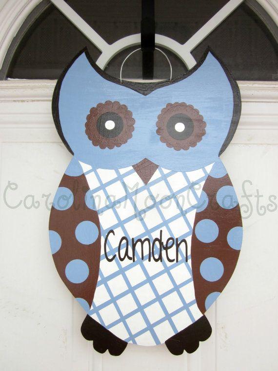 25+ unique Owl door hangers ideas on Pinterest   Owl door ...
