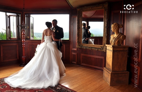 Bride and Groom inside the magnificent period homestead at Glengariff Historic Estate and Winery. #WeddingPhotography