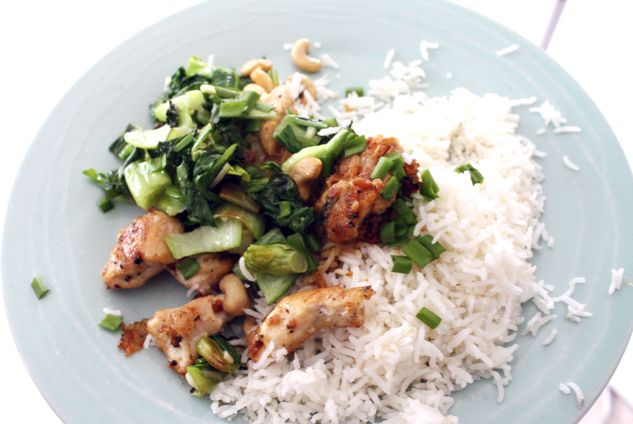 Easy Asian stirfry chicken with bok choy!