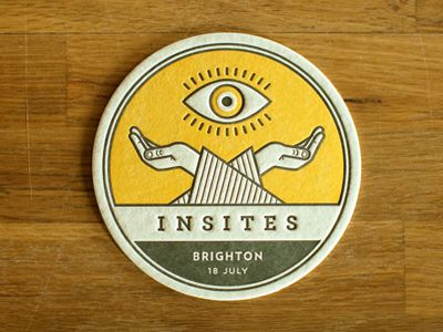 Beautiful coaster. Simple design, simpol color scheme ///// 25 Beautiful Coaster Designs for Inspiration