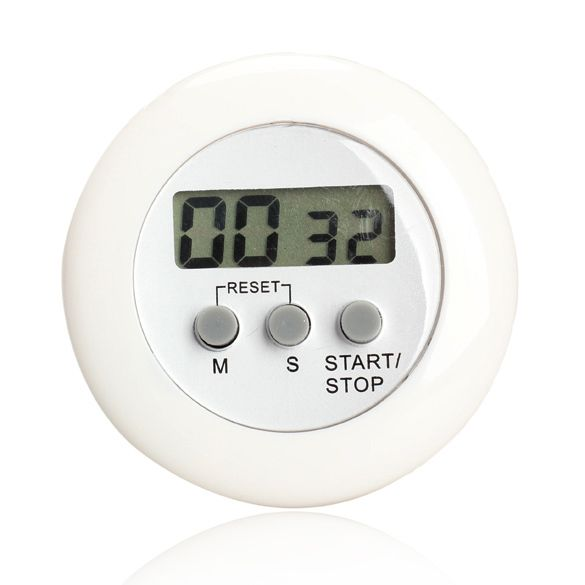 round magnetic lcd digital kitchen countdown timer alarm with stand white kitchen timer practical cooking timer alarm clock in kitchen timers from home