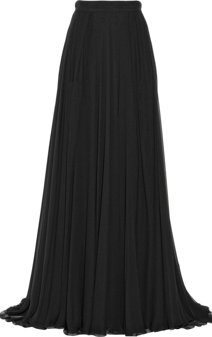 pleated chiffon maxi skirt <3