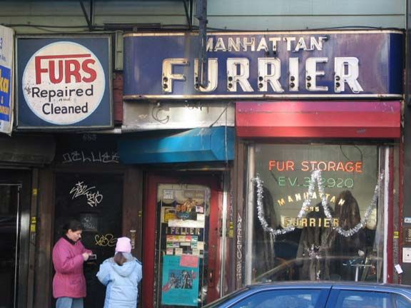 Manhattan Furrier - my mother used to take her mink stoles there, and ...