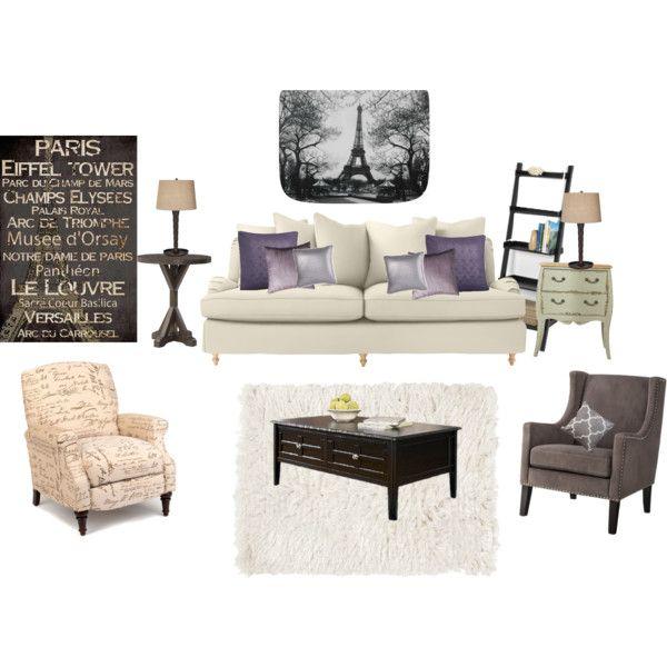 Beautiful Living Room  Paris Theme