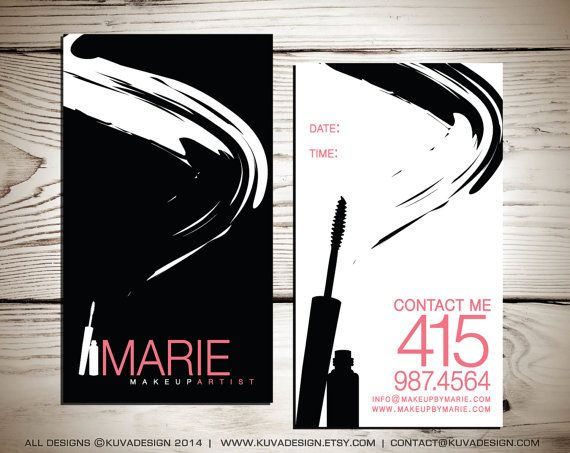 Makeup Artist Business Card Design