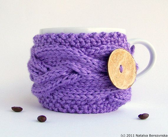 Lavender Coffee Cup Cozy Coffee Cup Sleeve Coffee by natalya1905, $17.50