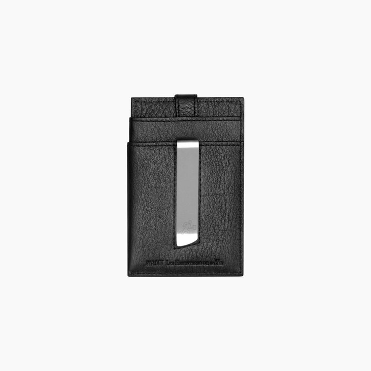 Kennedy money clip wallet in Black leather