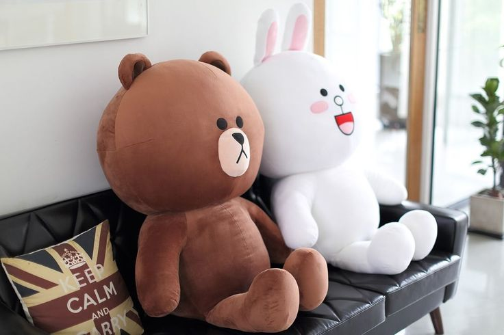 "SNS LINE FRIENDS BROWN CONY Giant Plush Toy Stuffed Character Doll 43"" (2Types) #LINEPLUS #StuffedToy"