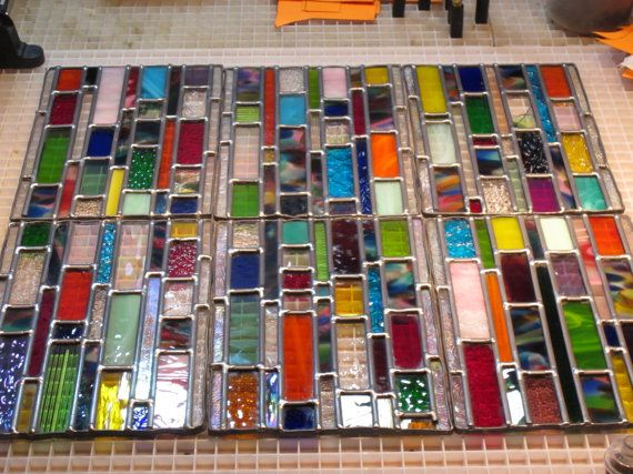 Outdoor Stained glass window panels CUSTOM by stanfordglassshop