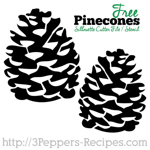 Pinecone Stencil / Silhouette cutter file. Today there are 283 days till Christmas. Can't wait to use these!