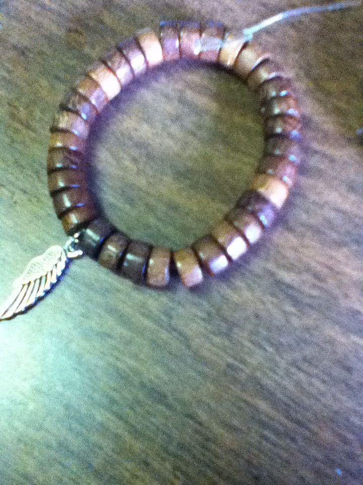 Brown angel wing #bracelet