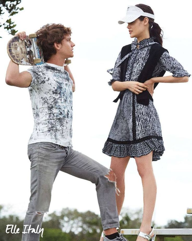 Summer recreation gets a paisley twist with this flowing Fay dress. As seen in Elle Italia.