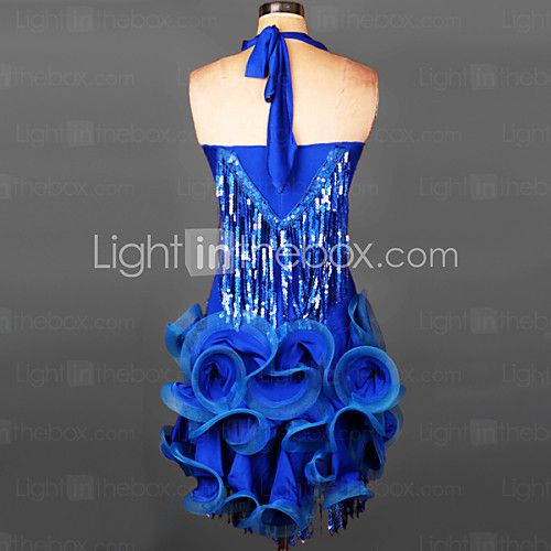Vestidos y faldas(Negro Fucsia Verde Rojo Azul Rey Azul Laguna,Espándex,Danza Latina Desempeño Samba) -Danza Latina Desempeño Samba- para 2017 - $69.99