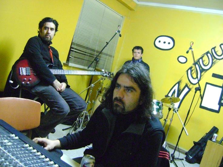 Grabando en el estudio