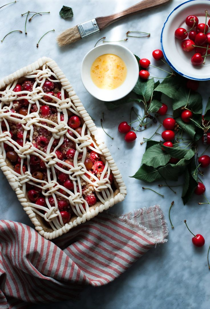 Cherry & White Balsamic Slab Pie Recipe
