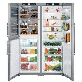 Kombinace chladničky s mrazničkou Liebherr SBSes 7165 nerez