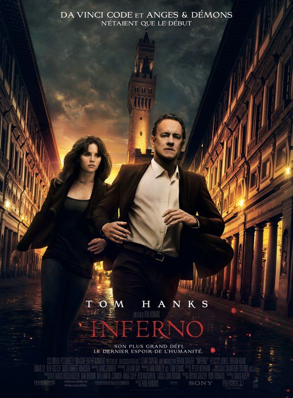 INFERNO de Ron Howard - Avec Tom Hanks