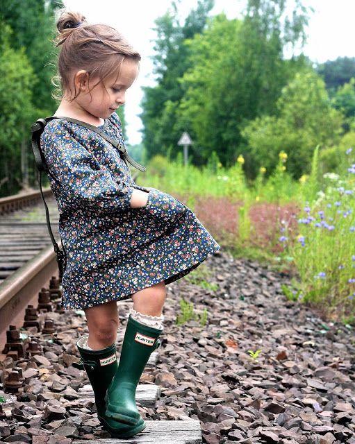hunter boots & ruffle socks, my daughter hopefully love this!
