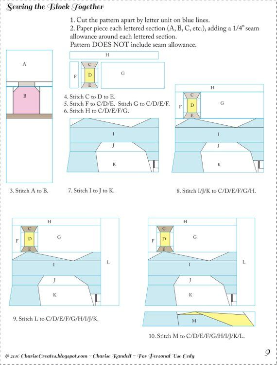 Vintage Sewing Machine Notions Paper Piecing Pattern Paper