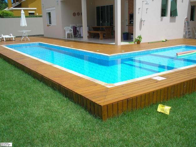 piscina de fibra com deck de madeira 4