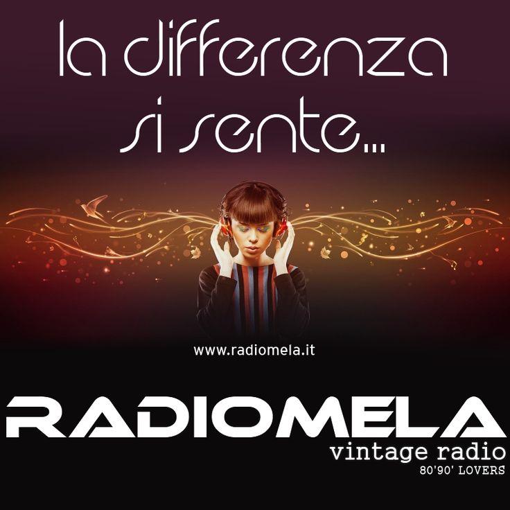 Una WebRadio differente ... e si sente!  http://www.radiomela.it  #8090lovers #vintageradio #webradio