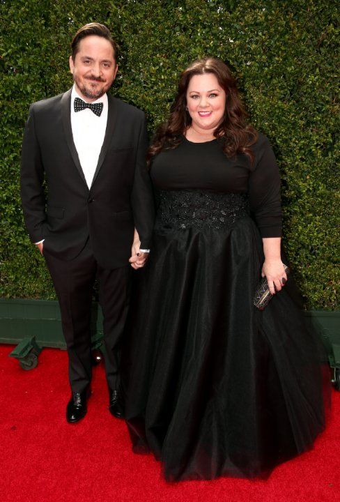 Melissa McCarthy and Ben Falcone at event of The 66th Primetime Emmy Awards (2014)