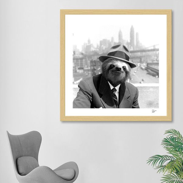Discover «Sloth in New York», Exclusive Edition Fine Art Print by Luigi Tarini - From $25 - Curioos