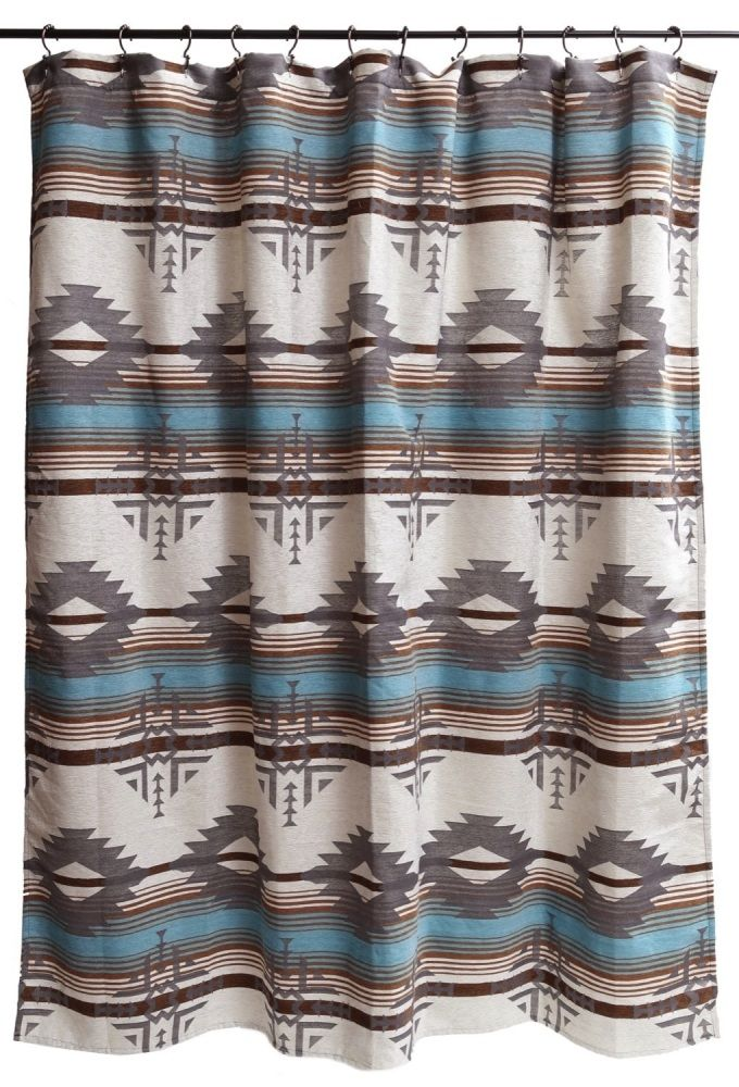 Badlands Southwestern Shower Curtain by carsten's inc