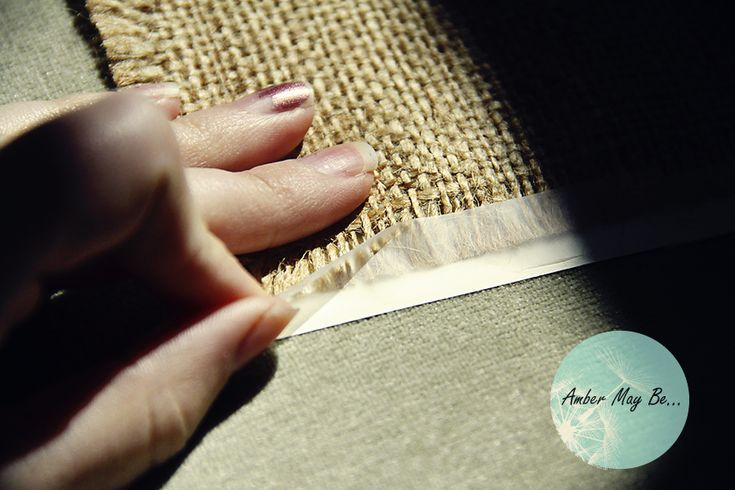 another way to print on burlap (card stock instead of freezer paper)