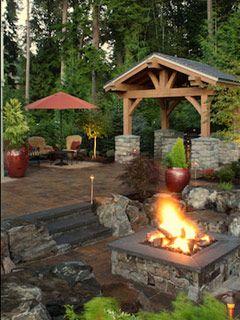 Fire pit, patio