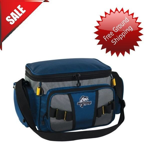 Tackle Shoulder Fishing Bag With 2 Boxes Holder Full Travel Waterproof Pack Box #OKEECHOBEE